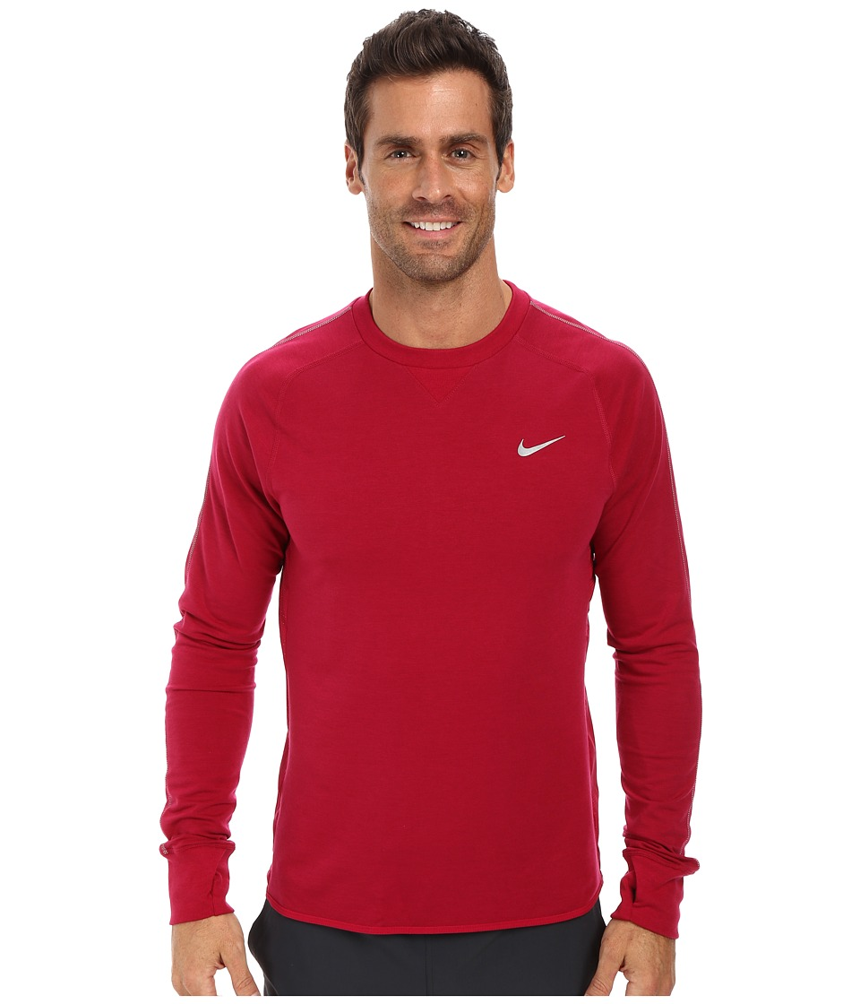 Nike - Dri-FIT Sprint Crew (Dark Fireberry/Dark Fireberry/Reflective Silver) Men's Long Sleeve Pullover