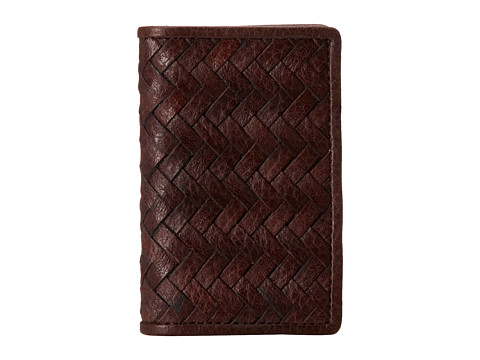 Cole Haan - Fold Over Card Case (Chocolate) Wallet