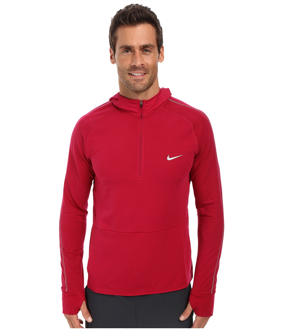 Nike - Dri-FIT Sprint HZ Hoodie (Dark Fireberry/Dark Fireberry/Dark Fireberry/Reflective Silver) Men's Sweater