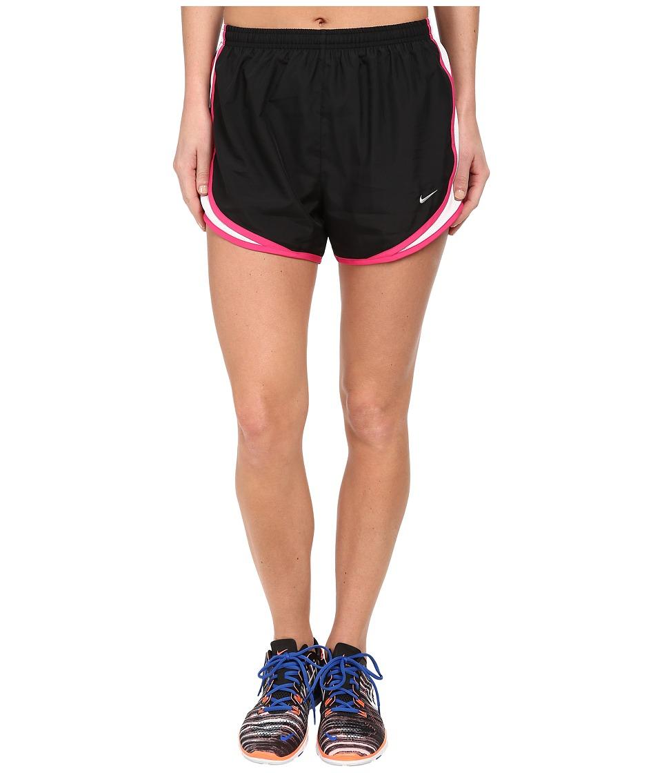 Nike - Tempo Short (Black/White/Vivid Pink/Matte Silver) Women's Workout