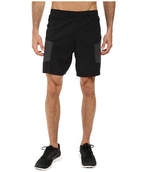 Nike - 7 Trail Kiger Short (Black/Anthracite/Total Orange/Reflective Silver) Men's Shorts