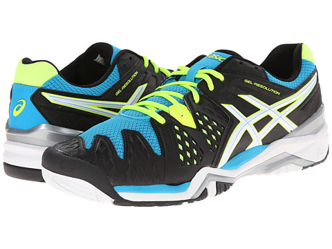 ASICS - GEL-Resolution 6 (Onyx/White/Atomic Blue) Men's Shoes