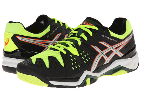 ASICS - GEL-Resolution 6 (Onyx/Silver/Flash Yellow) Men