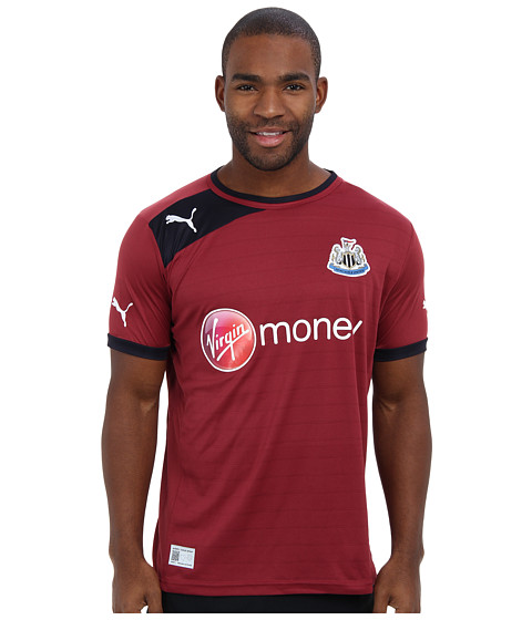 PUMA - Newcastle United Away Replica Jersey (Team Burgundy/New Navy) Men's Short Sleeve Pullover