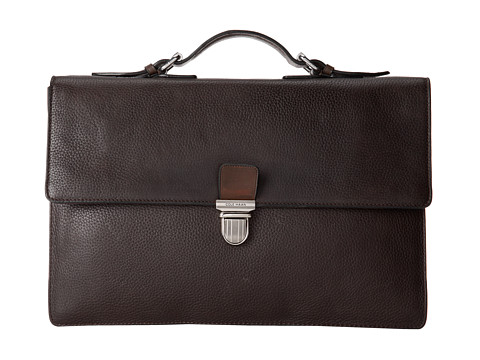 Cole Haan - Pebble 15 Brief (Chocolate) Briefcase Bags