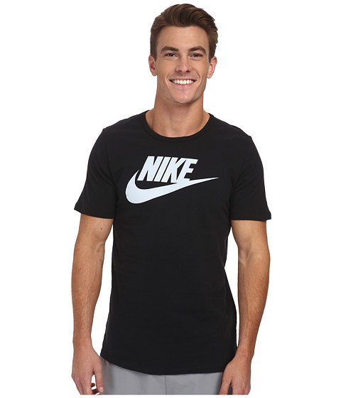 Nike - Futura Icon S/S Tee (Black/Pure Platinum) Men's T Shirt