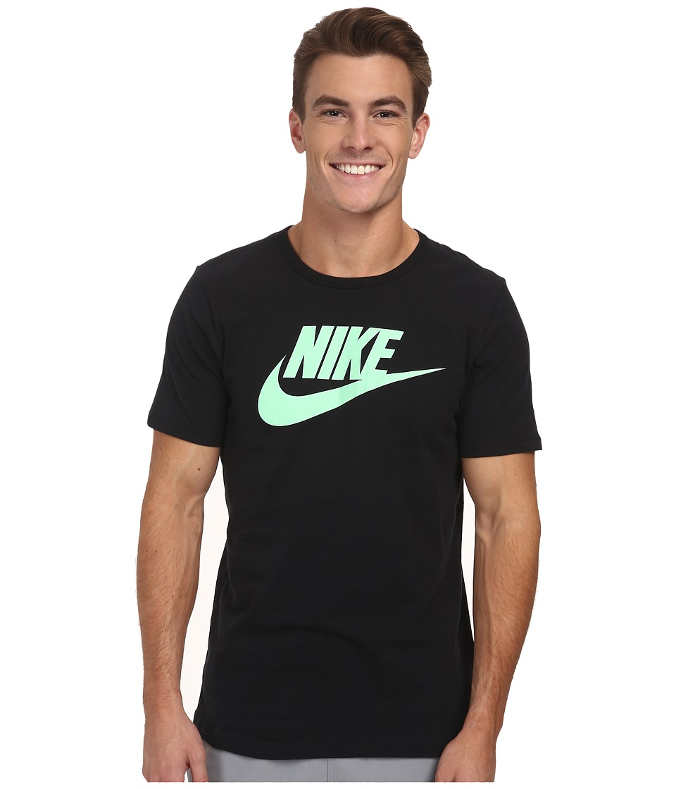 Nike - Futura Icon S/S Tee (Black/Light Poison Green) Men