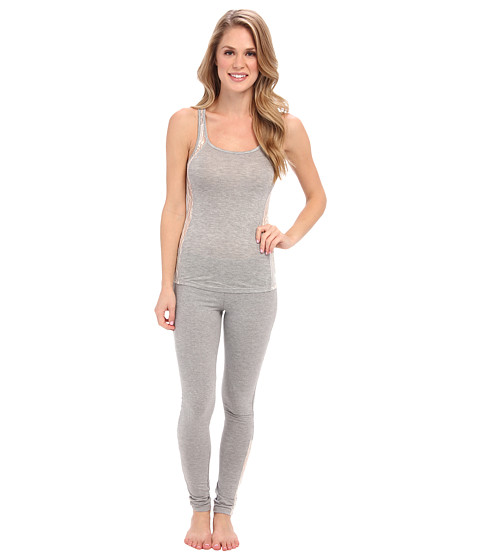 40 Winks - Tank Legging Set (Heather Grey Lace) Women's Pajama Sets