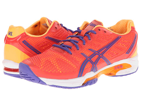 ASICS - Gel-Solution Speed 2 (Hot Coral/Lavender/Nectarine) Women's Tennis Shoes