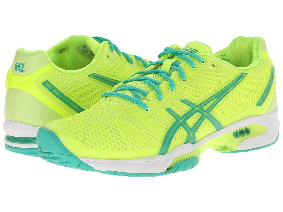 ASICS - Gel-Solution Speed 2 (Flash Yellow/Mint/Sharp Green) Women's Tennis Shoes