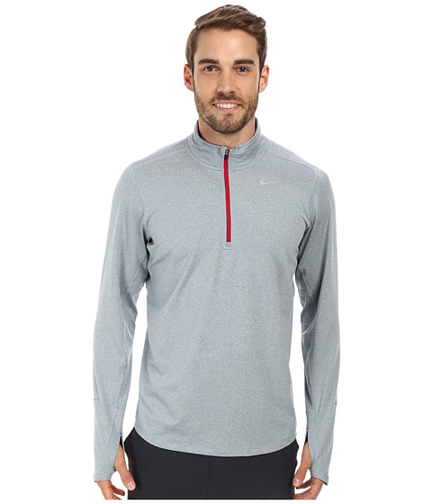 Nike - Element Half-Zip (Dove Grey/Heather/Dark Fireberry/Reflective Silver) Men