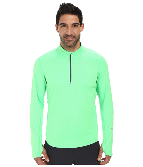Nike - Element Half-Zip (Poison Green/Dark Emerald/Reflective Silver) Men's Long Sleeve Pullover