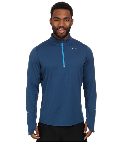 Nike - Element Half-Zip (Blue Force/Blue Force/Light Blue Lacquer/Reflective Silver) Men