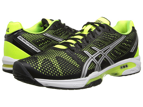 ASICS - Gel-Solution Speed 2 (Onyx/Flash Yellow/Silver) Men