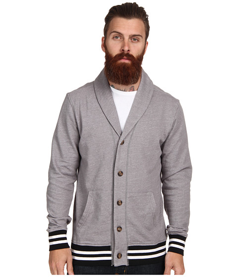 UNIONBAY - L/S Collegiate Shawl Cardigan (Edge Grey) Men's Sweater