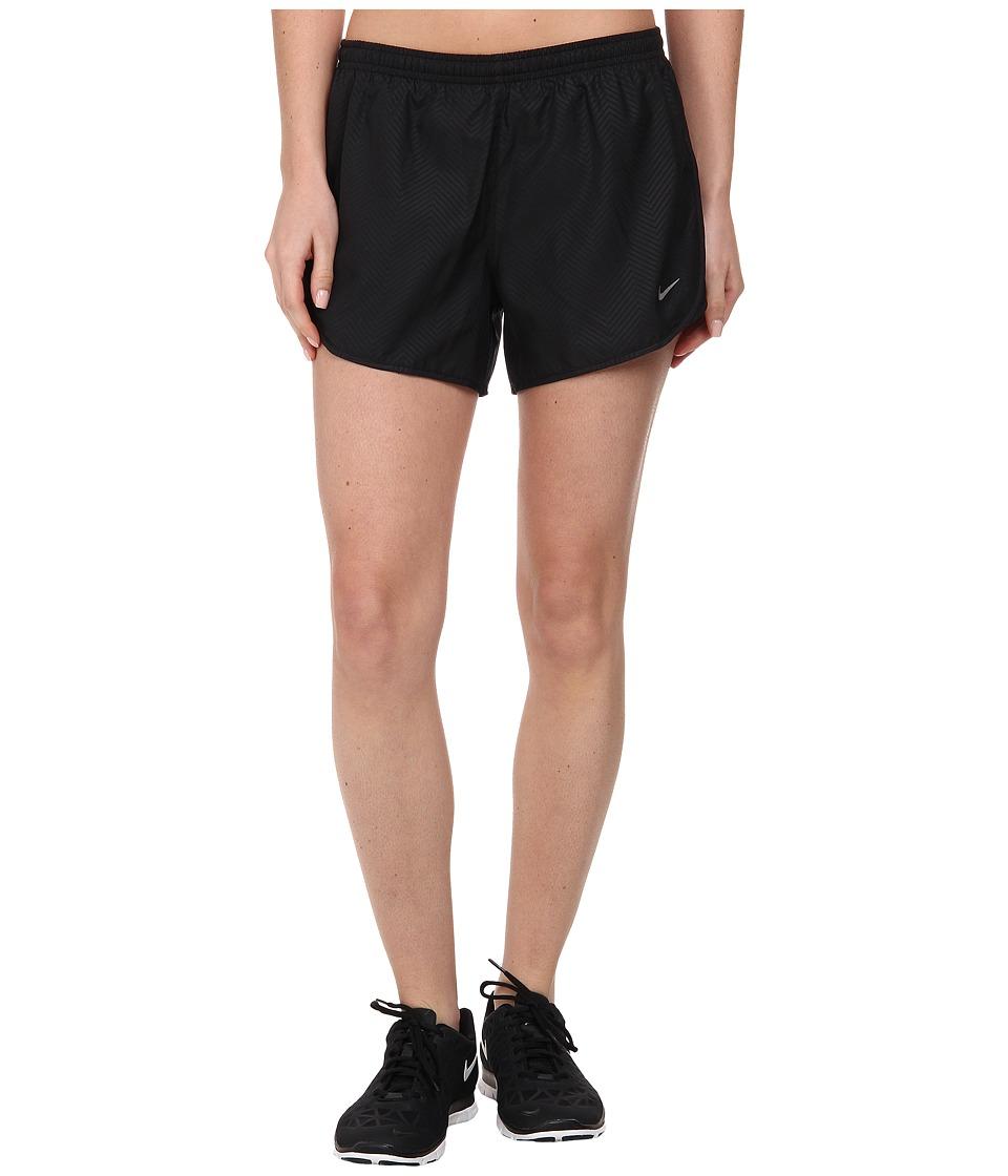 Nike - Modern Embossed Tempo Short (Black/Black/Volt/Reflective Silver) Women