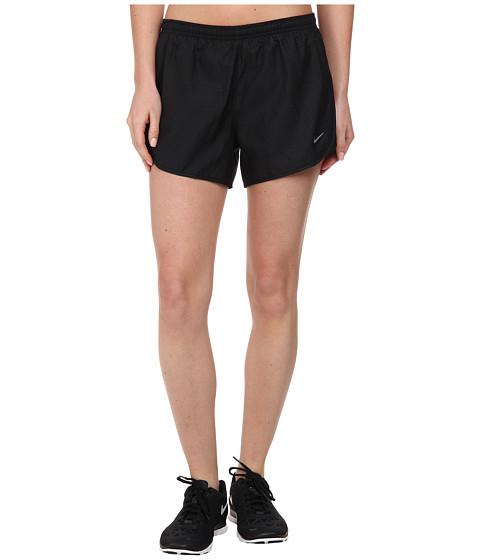 Nike - Modern Embossed Tempo Short (Black/Black/Volt/Reflective Silver) Women's Shorts