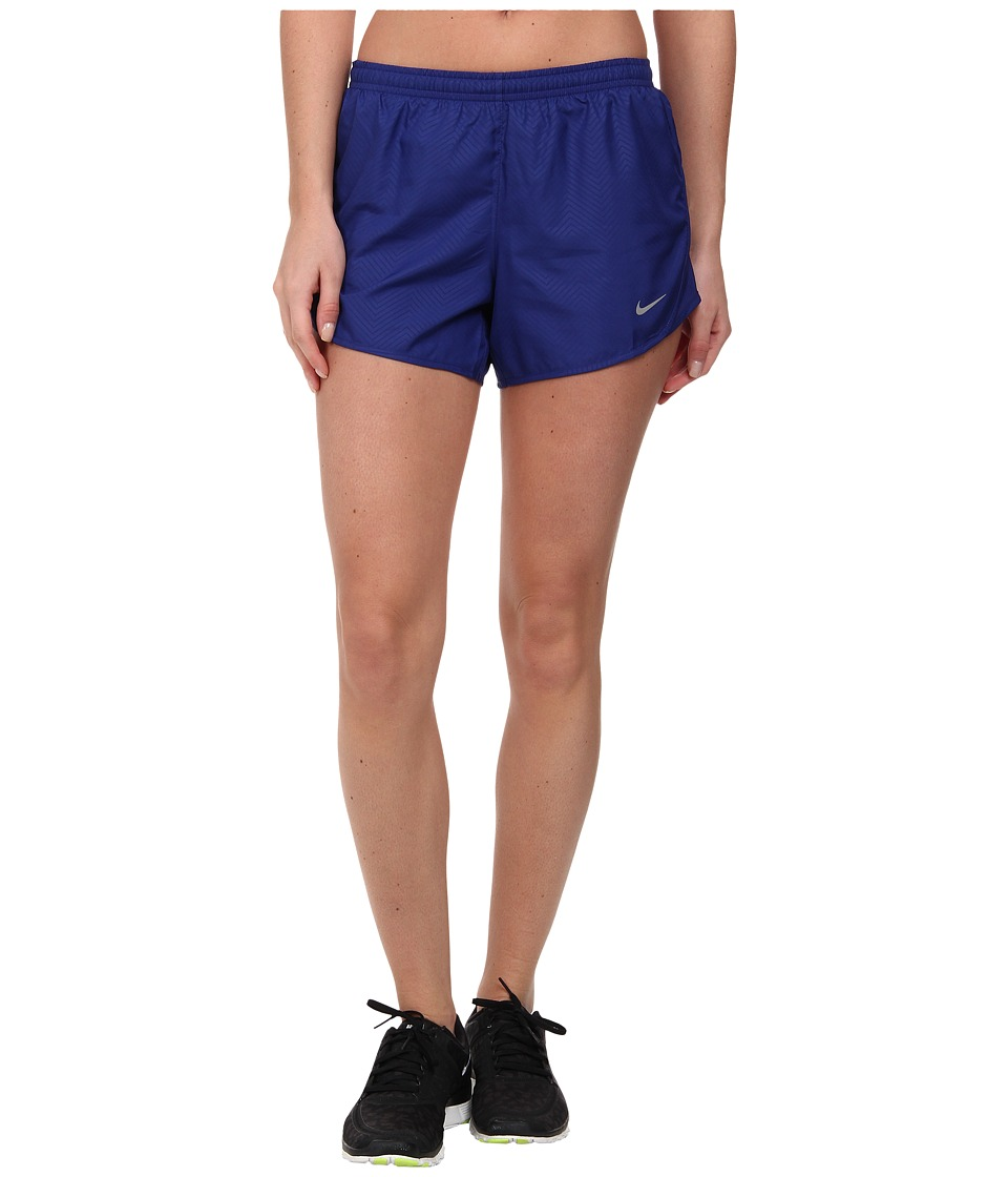 Nike - Modern Embossed Tempo Short (Deep Royal Blue/Deep Royal Blue/Reflective Silver) Women's Shorts