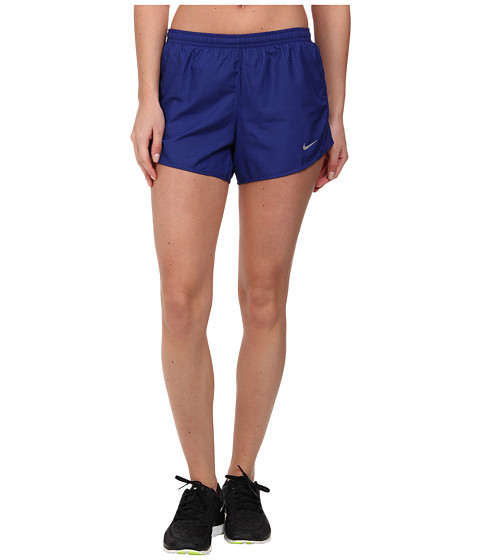 Nike - Modern Embossed Tempo Short (Deep Royal Blue/Deep Royal Blue/Reflective Silver) Women