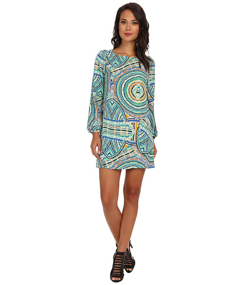 Brigitte Bailey - Skyler Shift Dress (Turquoise Combo) Women's Dress