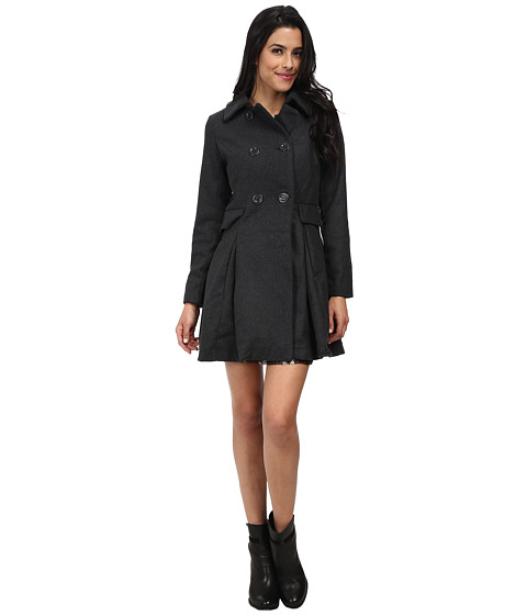 Brigitte Bailey - Double Breasted Jacket with Flap Pockets (Charcoal) Women
