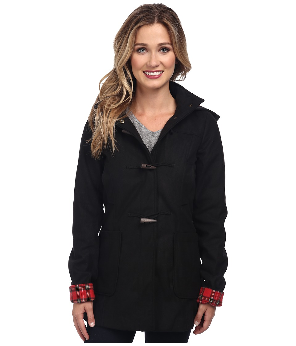 Brigitte Bailey - Hooded Jacket with Toggle Closure (Black) Women's Jacket