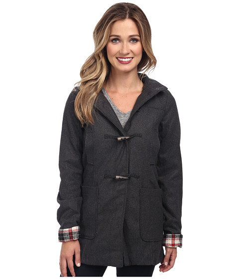 Brigitte Bailey - Hooded Jacket with Toggle Closure (Charcoal) Women's Jacket
