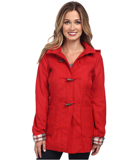 Brigitte Bailey - Hooded Jacket with Toggle Closure (Red) Women's Jacket