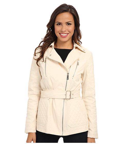 Kenneth Cole New York - Quilted Asymmetrical Jacket (Pearl) Women