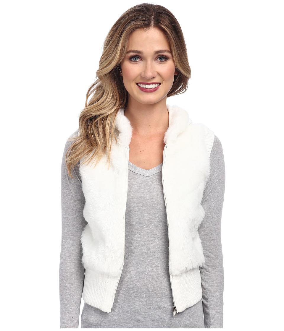 Gabriella Rocha - Faux Fur Vest with Sweater Back and Vest (Cream) Women's Vest