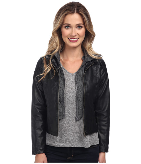 Gabriella Rocha - Hooded Qulited Knit Jacket (Black) Women's Jacket