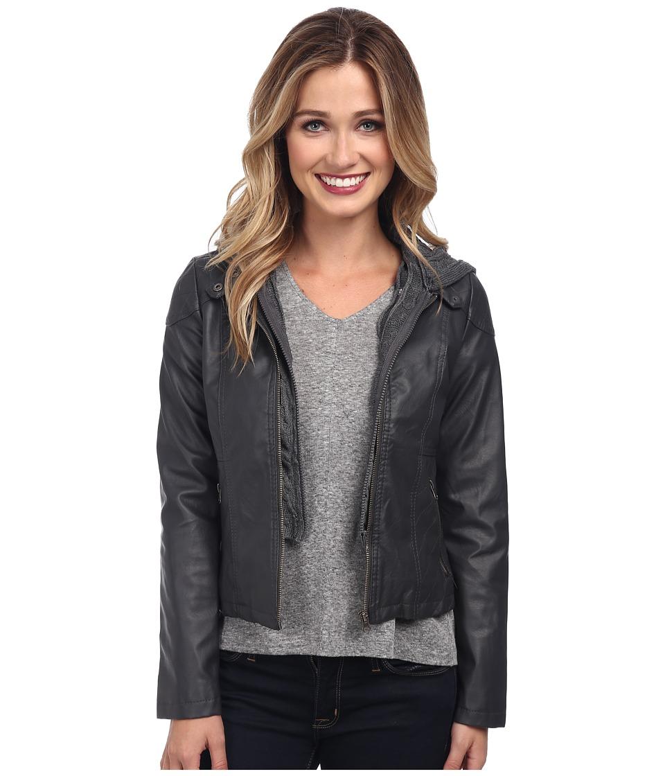 Gabriella Rocha - Hooded Qulited Knit Jacket (Heather Grey) Women's Jacket