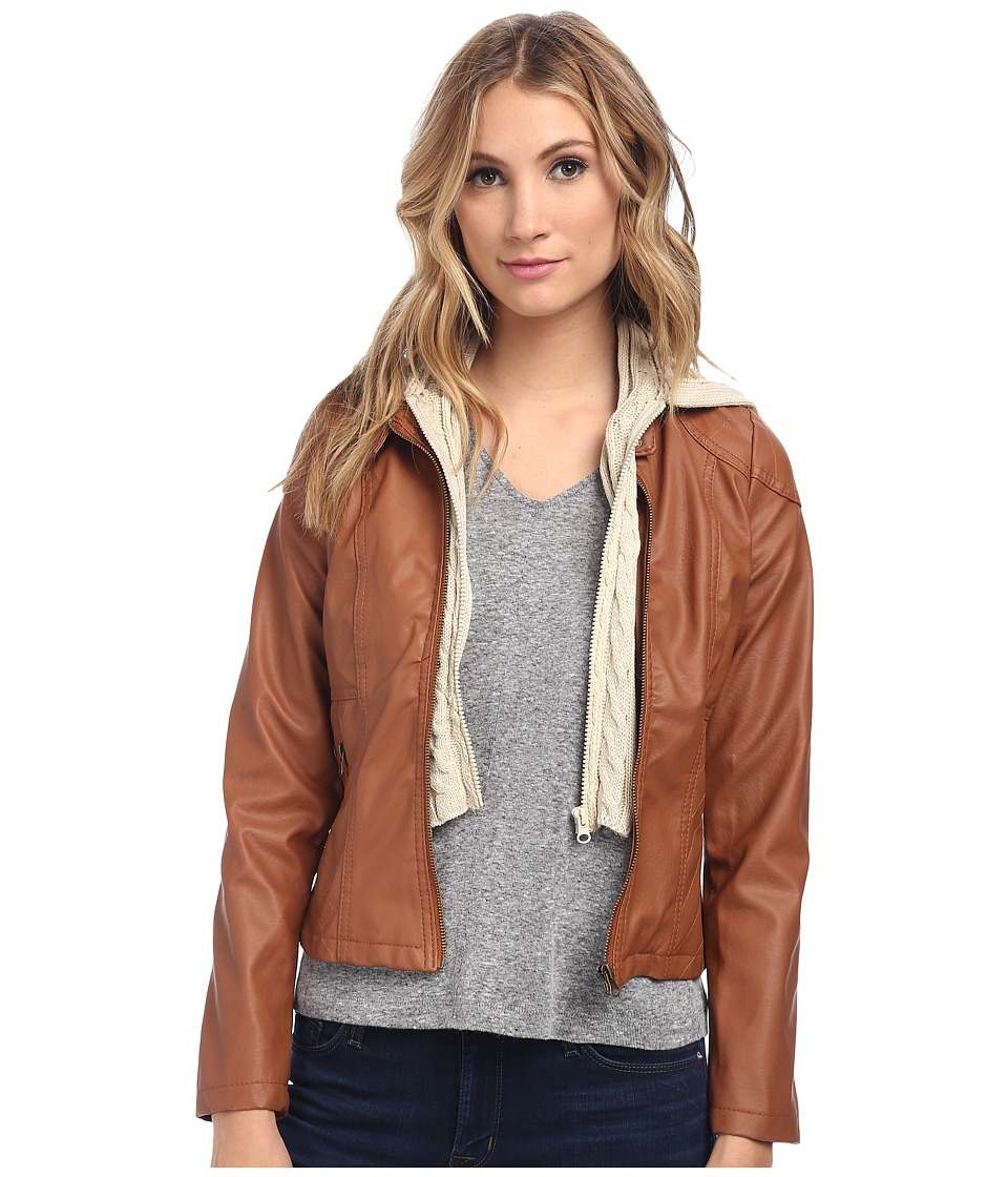Gabriella Rocha - Hooded Qulited Knit Jacket (Amber Gem) Women's Jacket