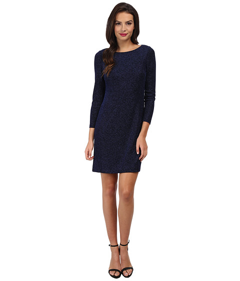 Jessica Howard - Long Sleeve Shift Dress (Royal/Black) Women