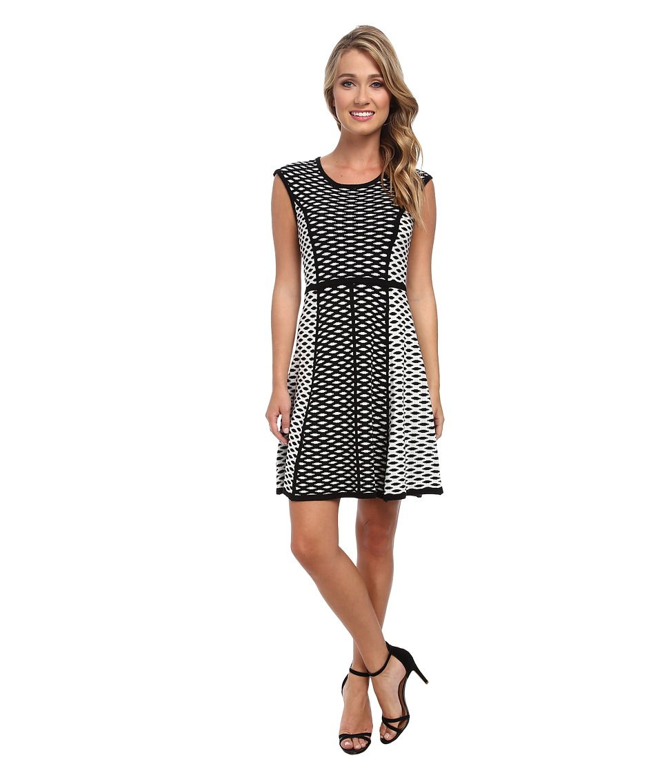Christin Michaels - April Knit Dress (Black/Ivory) Women's Dress