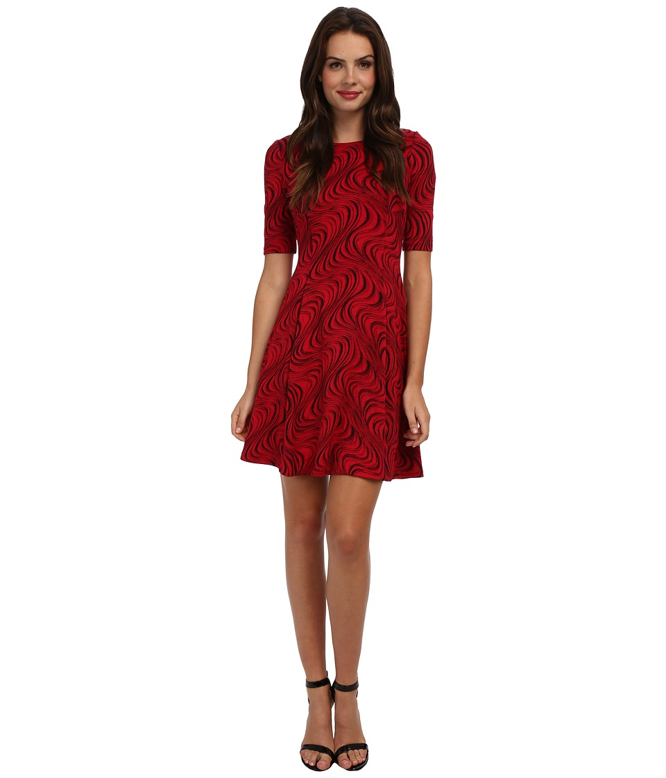 Christin Michaels - Ruby Hummingbird Dress (Red) Women's Dress