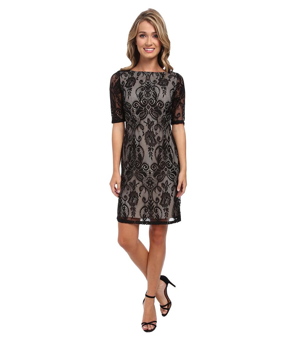 Christin Michaels Empress Lace Dress (Black) Women