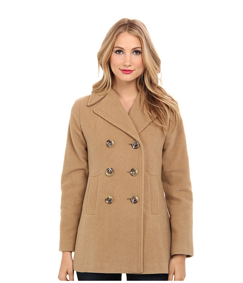 Kenneth Cole New York - Wool Peacoat (Beechwood) Women's Coat