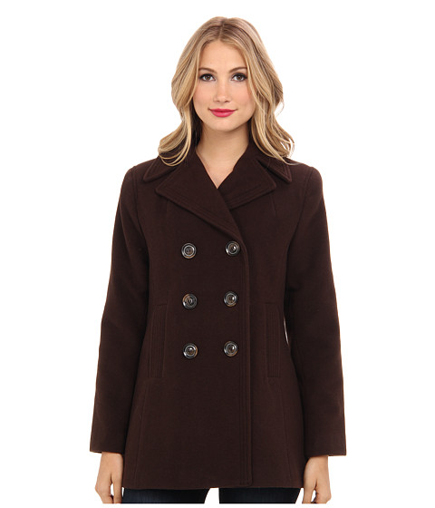Kenneth Cole New York - Wool Peacoat (Chocolate) Women