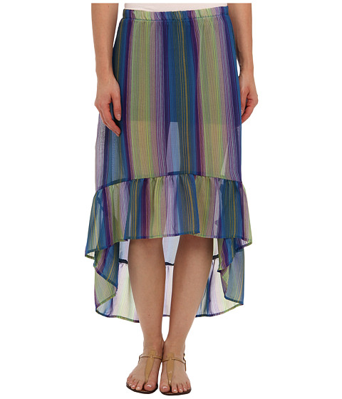 Lucy Love - Sheer Hi-Lo Skirt (Alcapulco) Women