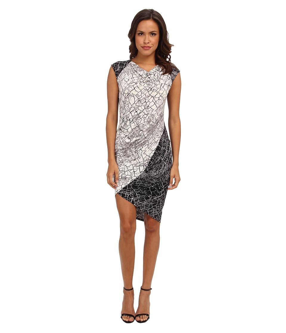 BCBGMAXAZRIA - Tiffanie Knit City Dress (Off White Combo) Women's Dress