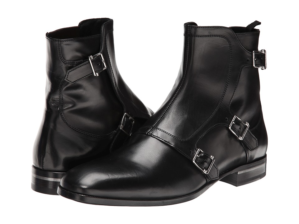 Alexander McQueen - Fry Three Buckle Boot (Black) Men