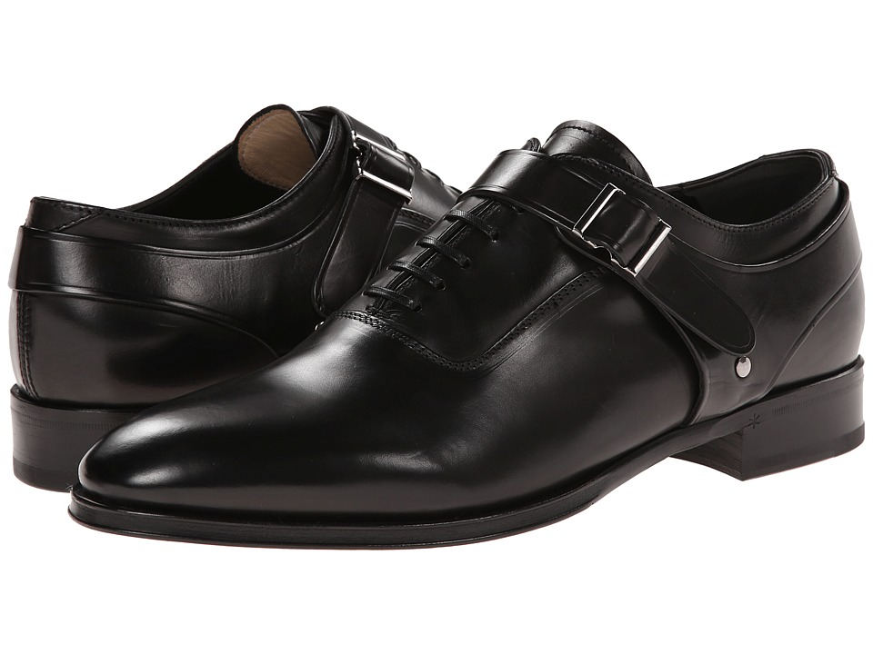 Alexander McQueen - Ryan Hardness Lace Up Oxford (Black) Men's Lace up casual Shoes
