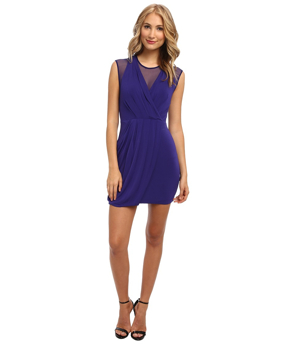 BCBGMAXAZRIA - Brenna Body Con Dress (Dark Regal Blue) Women