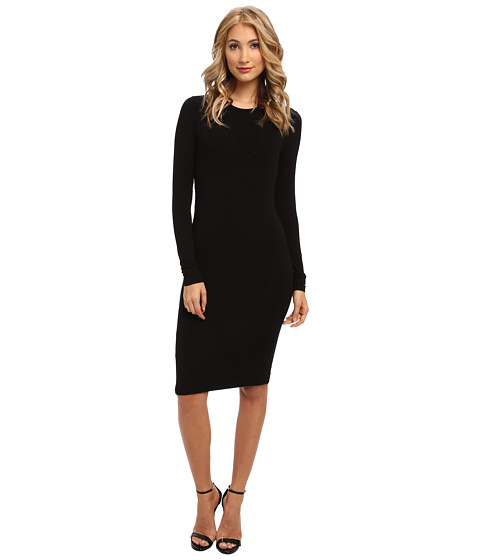 BCBGMAXAZRIA - Back Cutout Knit Dress (Black) Women