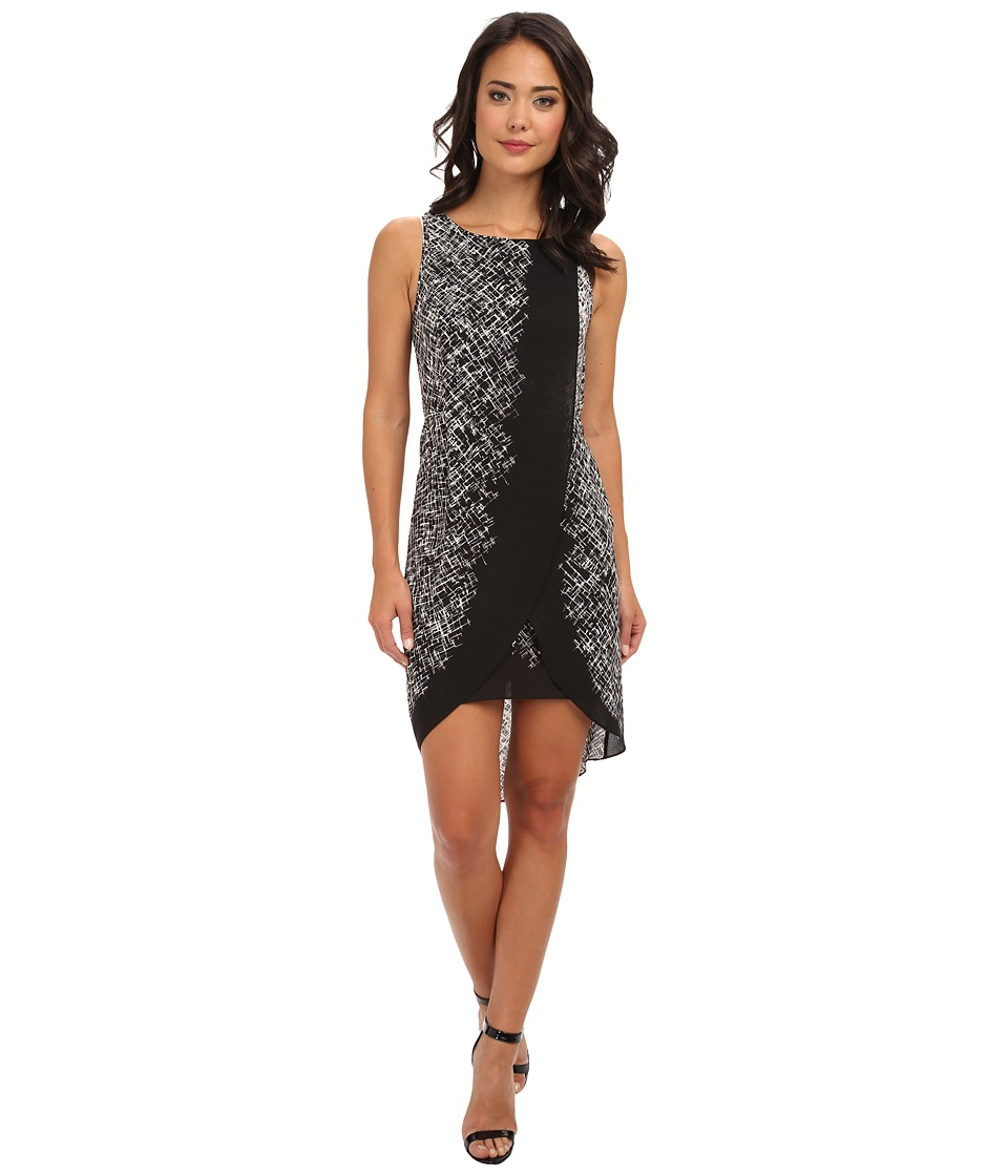 BCBGMAXAZRIA - Audra Printed Dress (Black Combo) Women's Dress