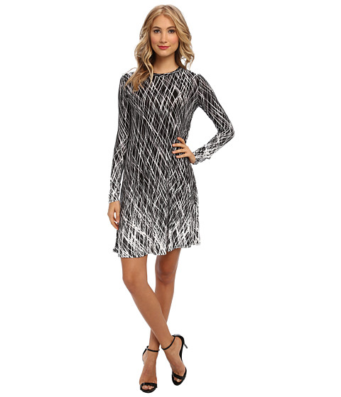 BCBGMAXAZRIA - Jeanna Printed Knit Dress (Black Combo) Women's Dress