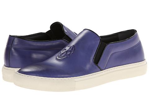 Alexander McQueen - Embossed Skull Slip On Sneaker (Blue/Black) Men