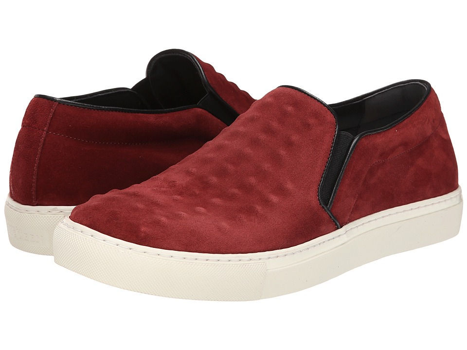 Alexander McQueen Leather Covered Stud Slip On Sneaker (Oxblood/Black) Men
