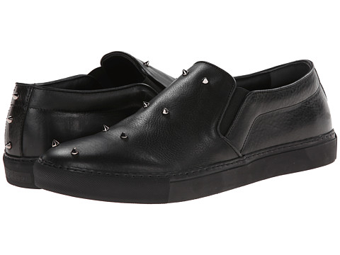 Alexander McQueen - Studded Slip On Sneaker (Black/Black) Men's Shoes